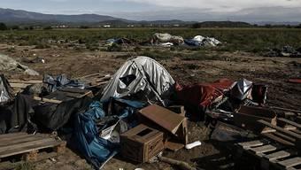 Es bleiben nur Abfall und zurückgelassene Zelte: Die Räumung des Flüchtlingslagers Idomeni ist abgeschlossen.