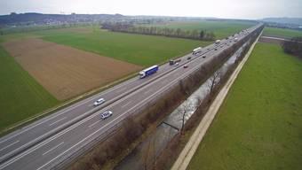 Die Dünnern zwischen Olten und Oensingen braucht entlang der A1 dringend einen Hochwasserschutz.