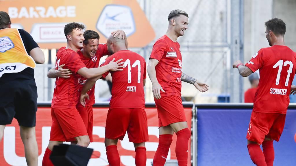 Vaduz macht ersten Schritt Richtung Super League