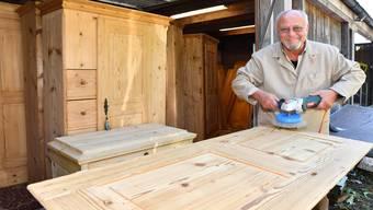 Möbel-Restaurator Andreas Seiler aus Wöschnau