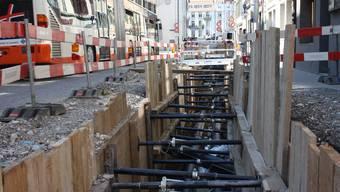 Der Bau des Solothurner Fernwärmenetzes soll sich lohnen, sagt auch die Regierung. Um die Investitionen amortisieren zu können, darf die städtische Politik ihren Bürgern einen Anschlusszwang auferlegen. (Archivbild)