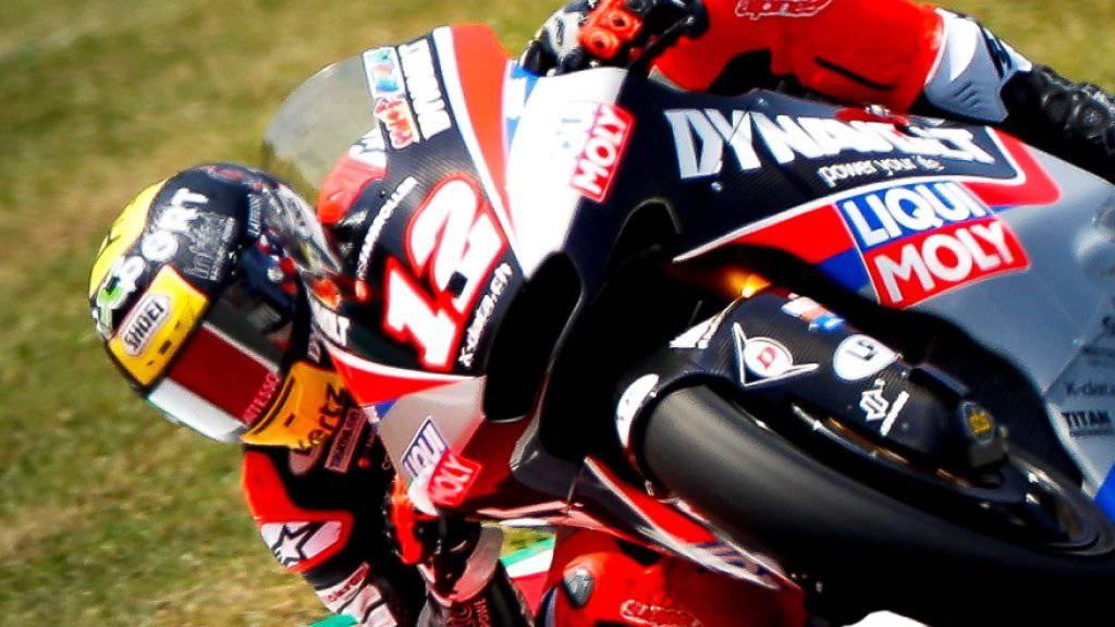 Tom Lüthi verpasste die Pole-Position für das Moto2-Rennen in Montmeló nur ganz knapp