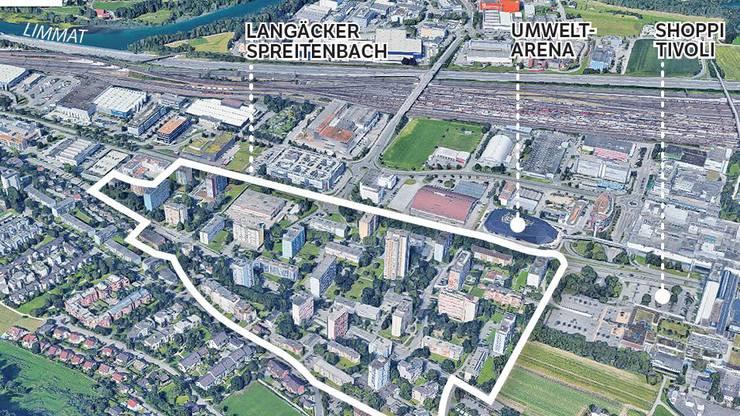 Das Spreitenbacher Langäckerquartier zählt zu den ersten Hochhaussiedlungen der Schweiz.