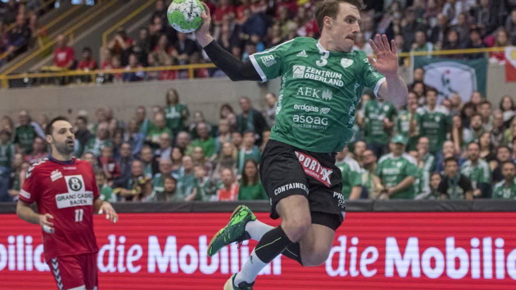 War beim 31:28-Sieg bei Bern Muri mit acht Treffern bester Torschütze von Wacker Thun: Luca Linder (Archivbild)