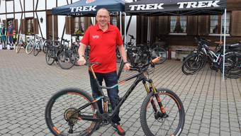 Markus Huwiler von Huwiler Sport Muri ist selber ein begeisterter Mountainbike-Fahrer.