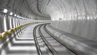 Am 13. Dezember 2020 soll der 15,4 Kilometer lange Ceneri-Basistunnel mit dem ersten Zug von 06.03 Uhr Richtung Norden in Betrieb genommen werden. (Archivbild)