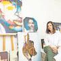 An der «Swiss Art Expo» im Zürcher Hauptbahnhof wurden die Bilder der Urdorferin erstmals an einer grösseren Schweizer Ausstellung gezeigt. Bild: Severin Bigler