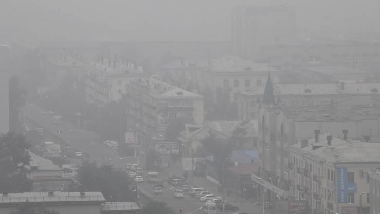Viele Orte wie die Stadt Tschita liegen in der Zone, wo der gesundheitsschädliche Rauch besonders stark ist. (Bild vom 1. August).
