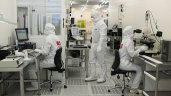 Der Technologiekonzern ABB hat 2013 über 450 Patente angemeldet. Im Bild: ABB-Halbleiterproduktionsstätte in Lenzburg.