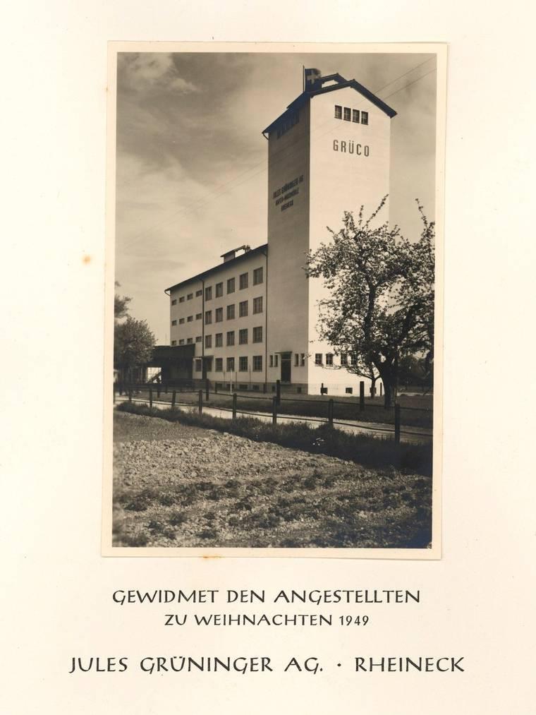 Ein Weihnachts-Brief der Jules Grüninger AG aus dem 1949. (Bild: Staatsarchiv St.Gallen)