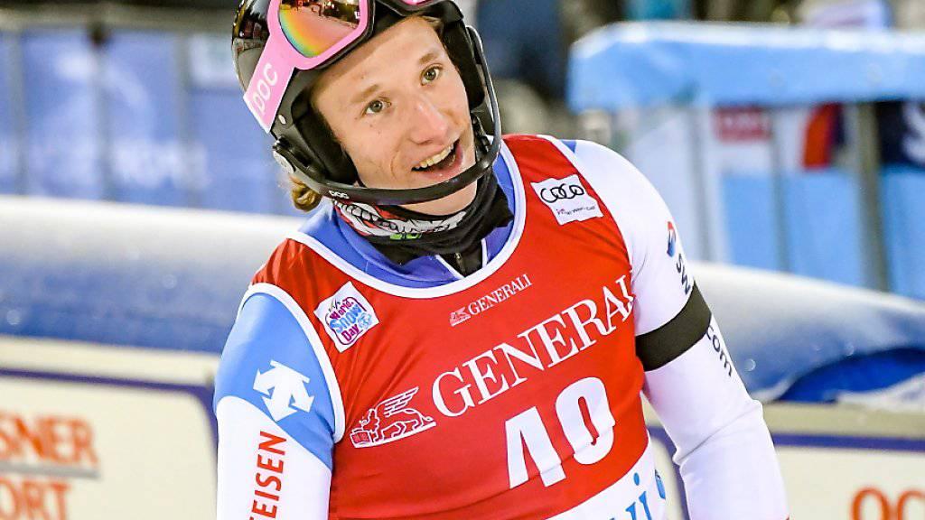 Tanguy Nef - mit Nummer 40 wird der Genfer in seinem ersten Weltcuprennen gleich Elfter.