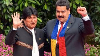 Evo Morales und Nicolas Maduro am G77-Gipfel