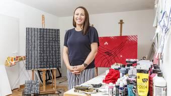 Peata Larkin, neuseeländische Gastkünstlerin im Künstleratelier des Alten Spitals