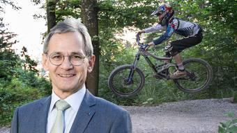 Rücksichtslose Biker verscheuchen Tiere und führen zu Kollisionen, findet Grossrat Sander Mallien.
