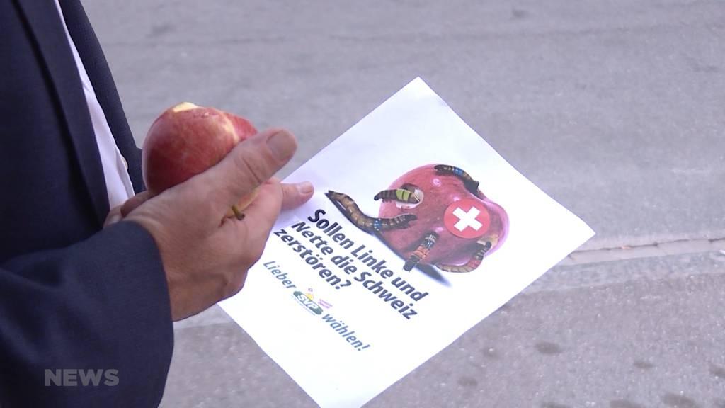 Apfel-Kampagne der SVP wurmt nicht nur Gegner