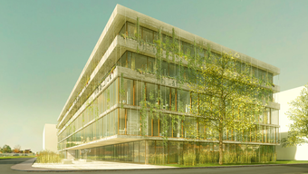 Eine Visualisierung des Neubaus des Tropeninstituts