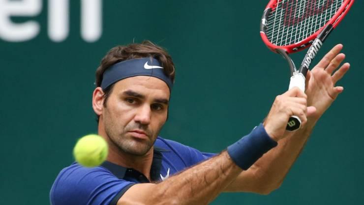 Roger Federer musste gegen den Belgier Goffin hart kämpfen
