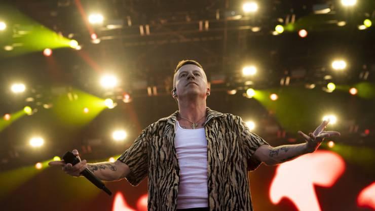 US-Rapper Macklemore - hier bei seinem kürzlichen Auftritt am Sziget Festival in Budapest - ist stolzer Mitinhaber eines Fussballclubs.