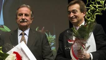 Giorgio Giudici (l.) gibt an Marco Borradori (r.) ab (Archiv)
