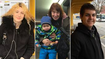 Sie haben der AZ ihre Geschichten erzählt: Sarina Hiltebrand, Iris Erne mit Enkel Leon und Tim Förderer (von links).