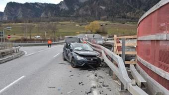 Die wilde Fahrt des 34-Jährigen endete an einem Brückengeländer in Zizers.