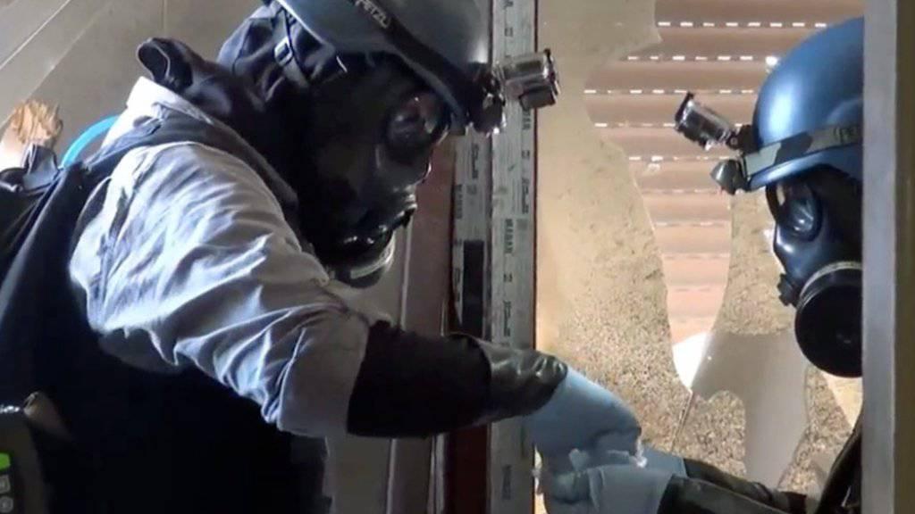 Chemiewaffen-Inspektoren im August 2013 im Umland von Damaskus (Archivbild).