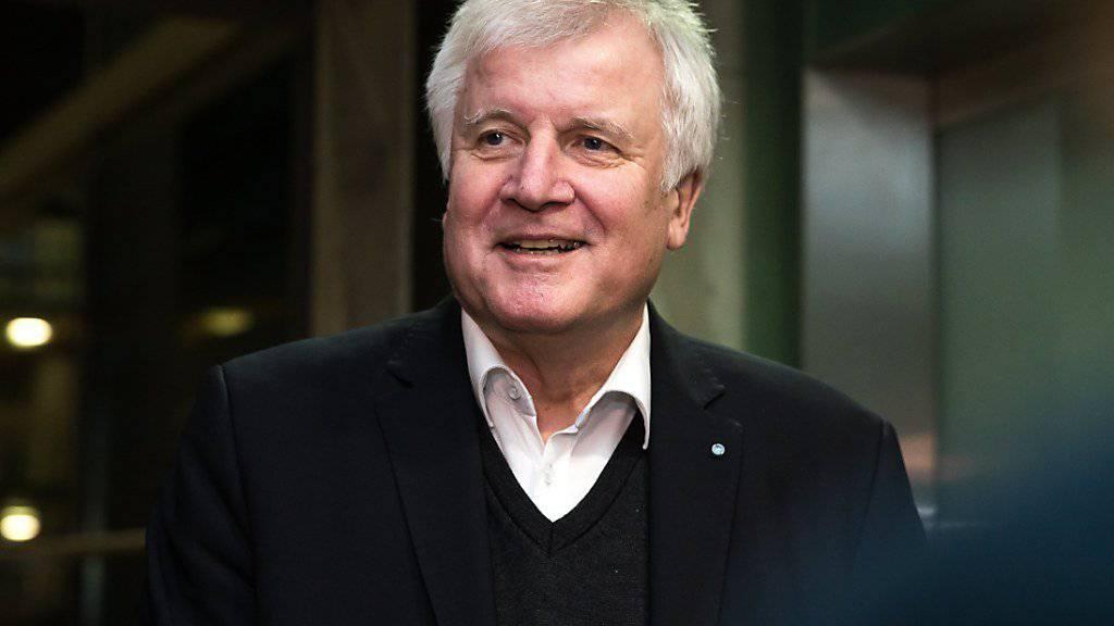 «Ostern ist der allerspäteste Zeitpunkt»: CSU-Chef Horst Seehofer hofft auf eine rasche Einigung auf eine neue deutsche Regierung zwischen CDU, CSU und SPD. (Archivbild)
