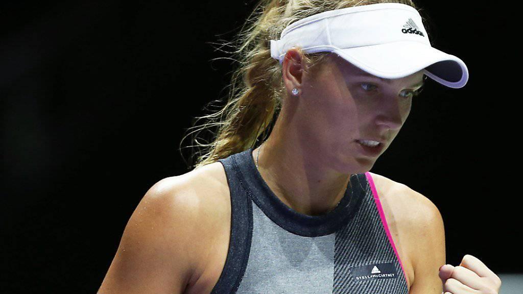 Caroline Wozniacki imponiert an den WTA Finals weiter.