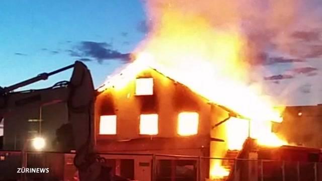 Hausbrand in Schlieren