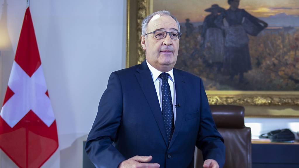 Die Schweiz hat laut dem aktuellen Bundespräsidenten Guy Parmelin die Lage mit dem Coronavirus durchaus zeitweise falsch eingeschätzt. (Archivbild)
