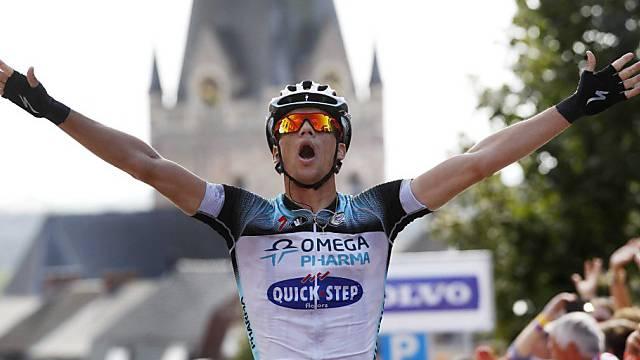 Zdenek Stybar setzt sich auf der 7. Vuelta-Etappe im Sprint durch.