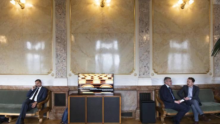 Hier wird Einfluss genommen: Die Wandelhalle vor dem Nationalratssaal im Parlamentsgebäude in Bern.