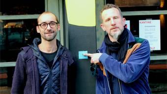 Ueli Wüthrich (links) und J.J. Flueck bringen Musik ins Attisholz-Areal.