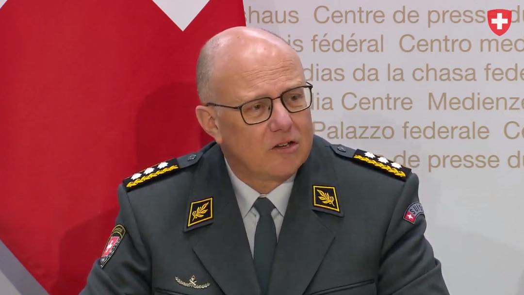 Medienkonferenz VBS zum Rücktritt von Armee-Chef Philippe Rebord