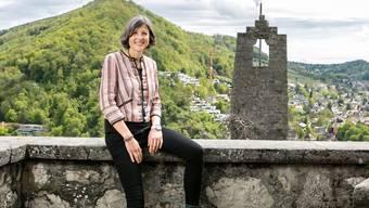 Die parteilose Stadträtin Sandra Kohler (Planung/Bau) ist seit 1,5 Jahren im Amt. Fotografiert am 09. Mai 2019 auf der Schlossruine Stein.