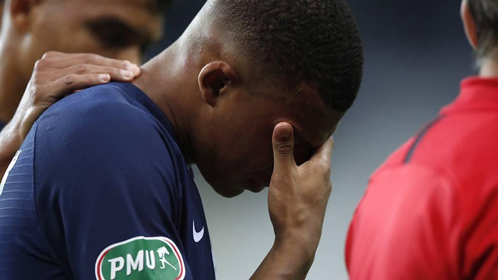 Wegen Verletzung: Paris Saint-Germain sorgt sich um Mbappé