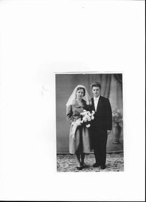 Hansueli und Camilla Müller-Lauper am 5. März 1960 bei ihrer Hochzeit.