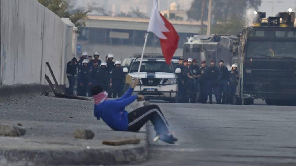 Das Königtum Bahrain wird immer wieder von Protesten und Gewalt gegen die sunnitische Herrscherfamilie und Sicherheitskräfte überschattet. (Symbolbild)