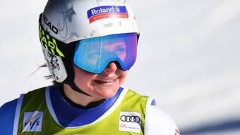 Corinne Suter sicherte sich zum dritten Mal den Schweizer Abfahrtsmeister-Titel