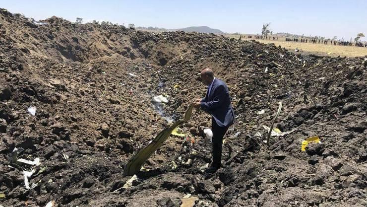 Eine Maschine der Fluggesellschaft Ethiopian Airlines mit 157 Insassen an Bord ist im März 2019 nahe der äthiopischen Hauptstadt Addis Abeba abgestürzt.