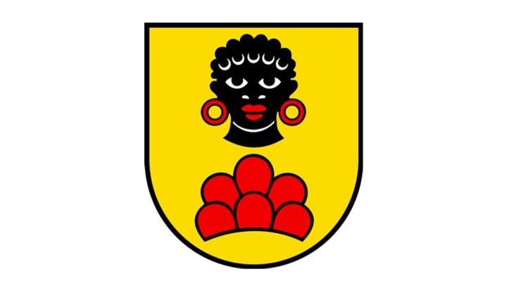 Das Wappen von Möriken-Wildegg zeigt einen Mohrenkopf.