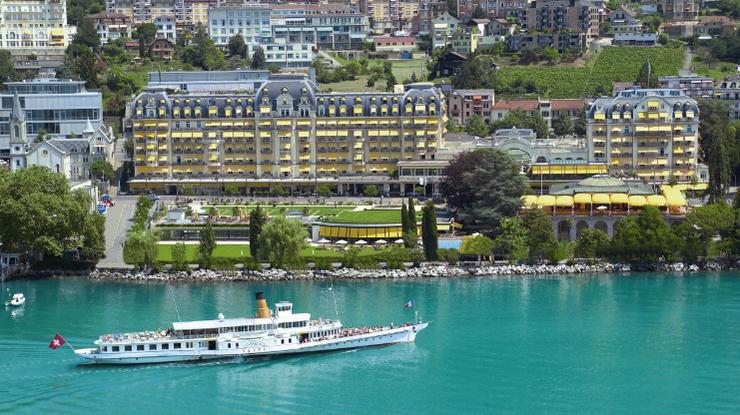 Eines der 5-Sterne Hotels in Montreux: Das Fairmont Palace. Copyright: Fairmont le Montreux Palace