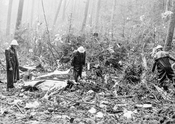 Nach der Bombenexplosion im Frachtraum stürzte die Coronado der Swissair ab.