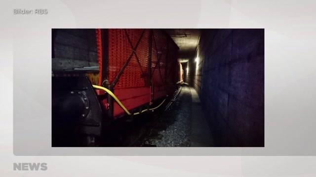 Zug-Kollision im Altikofentunnel