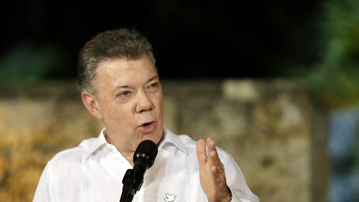 Der Golf-Clan hat Kolumbiens Präsident Juan Manuel Santos seine Kapitulation angeboten (Archiv)