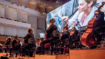 Filmkonzert KKL mit dem City Light Symphony Orchestra am 2. Februar 2019 im KKL. Dieses Orchester wird von der 21st Century Concerts GmbH gemanagt.