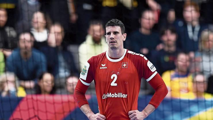 Enttäuscht: der Schweizer Topscorer Andy Schmid nach der Niederlage gegen Slowenien.