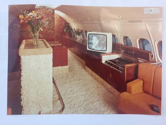 Das war der Startschuss für den luxuriösen Innenausbau Eine Convair 880 an der Airshow 1977 in Le Bourget, Paris.
