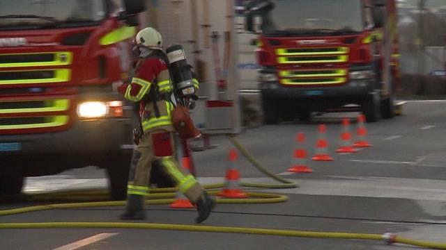 Brand zerstört Bar in Villmergen