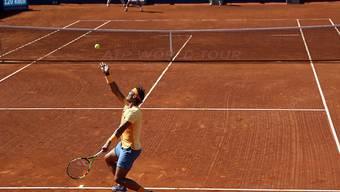 Rafael Nadal könnte mit seinem 49. Turniersieg auf Sand mit dem Argentinier Guillermo Vilas gleichziehen